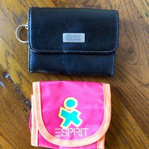 Esprit Leather Wallet + Nylon Coin Purse